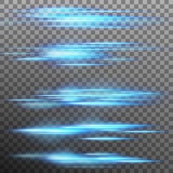 Efecto de luz especial, destello, iluminación. fondo transparente solo en