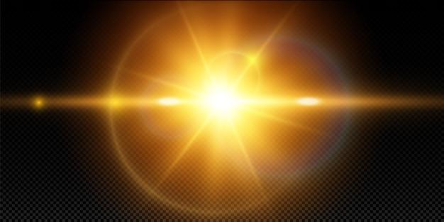 Efecto de luz especial de destello de lente.