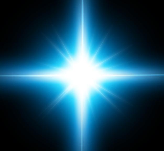 Efecto de luz, estrella futurista.