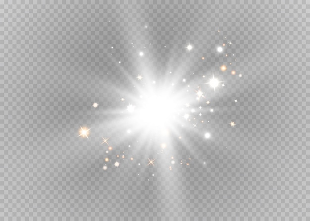 Efecto de luz de flash de lente especial de luz solar