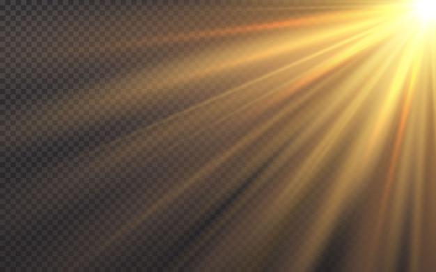 Efecto de luz de flash de lente especial de luz solar.