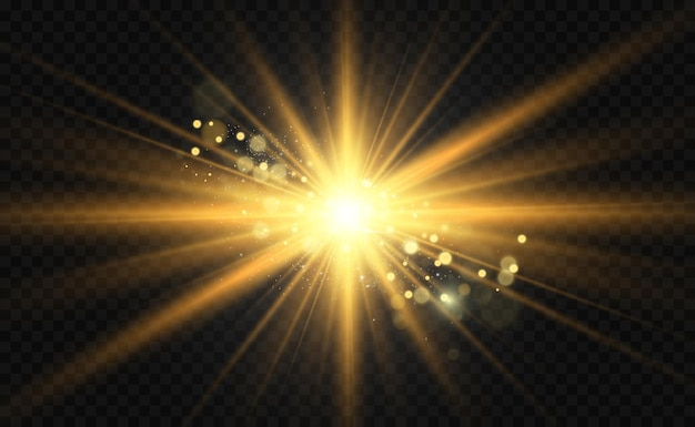 Efecto de luz de flash de lente especial