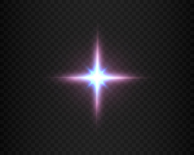Efecto de luz para fondos e ilustraciones nueva estrella sol brillante