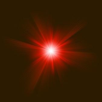 Efecto de luz de haz de explosión abstracta