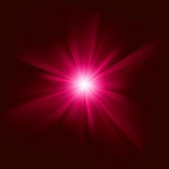 Efecto de luz de haz de explosión abstracto rojo