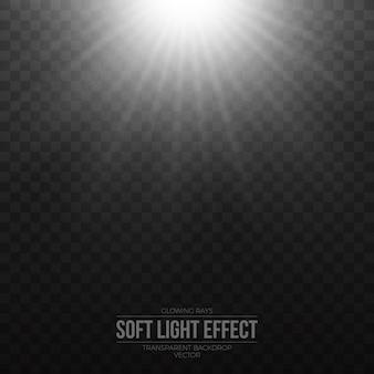 Efecto de luz plata transparente vector transparente.