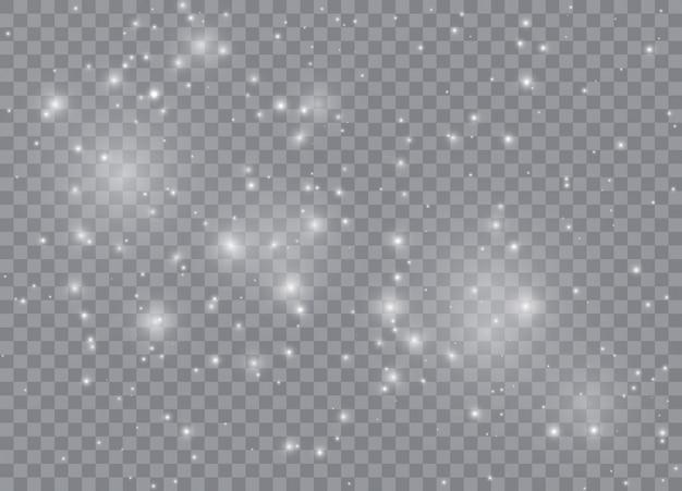 Efecto de luz resplandor estrellas.