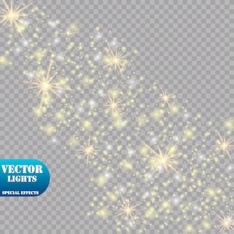 Efecto de luz resplandor. ilustración. concepto flash de navidad.