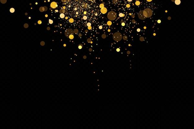 Efecto de luz resplandor. ilustración flash de navidad. polvo. efecto de luz de navidad. brillantes partículas de polvo mágico.