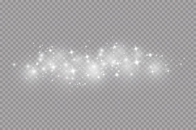 Efecto de luz resplandor. polvo, brillo.
