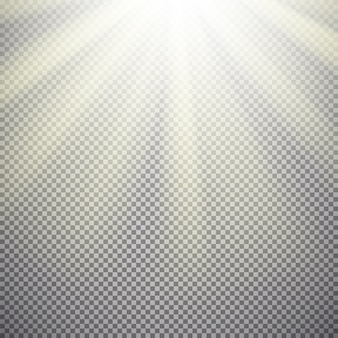 Efecto de luz sobre fondo transparente.