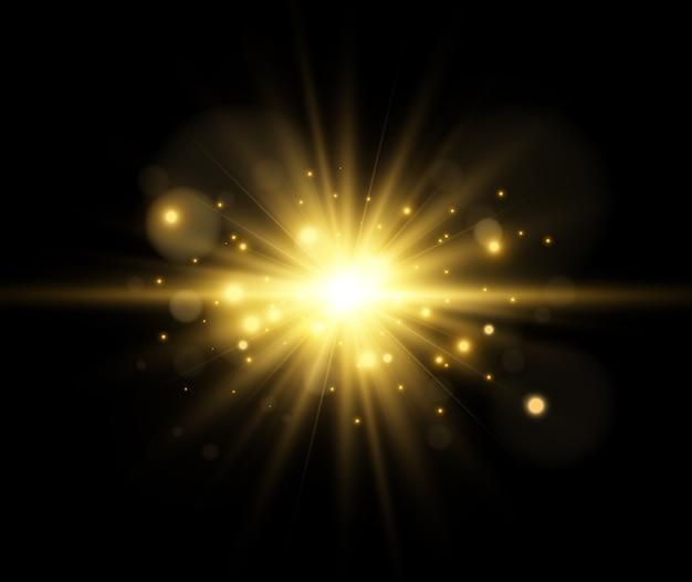 Efecto de luz sobre un fondo transparente