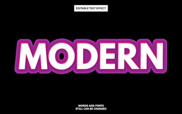 Efecto moderno de texto en negrita