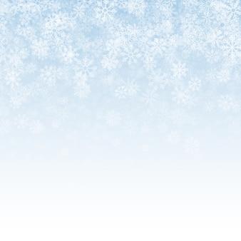 Efecto de nieve que cae fondo abstracto claro