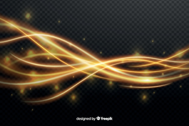 Efecto de onda de luz amarilla sin fondo
