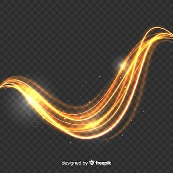 Efecto de onda de luz brillante