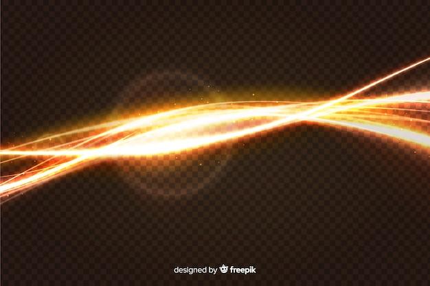 Efecto de onda de luz con fondo transparente