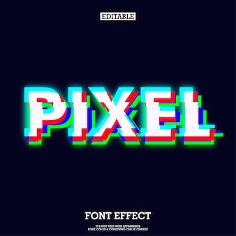 Efecto de pantalla rojo verde azul pixel