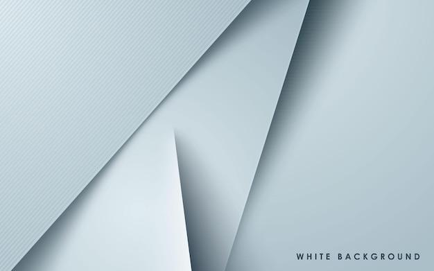 Efecto de papercut de fondo de capas superpuestas blancas
