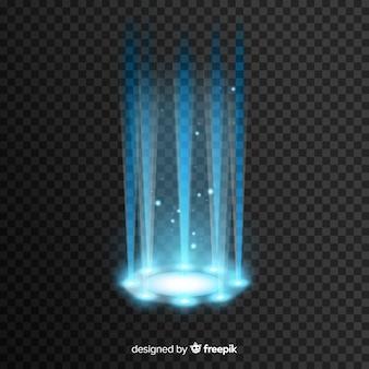 Efecto portal de luz decorativa