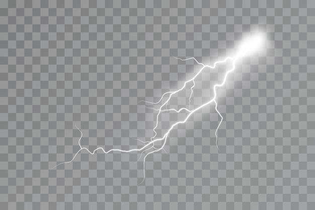 Efecto de rayo efecto de luz de tormenta eléctrica electricidad