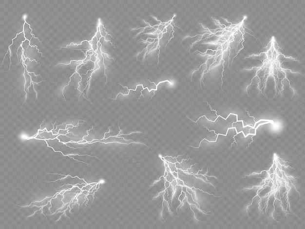 Efecto de relámpago, iluminación, cremalleras, tormenta, luz, brillo, electricidad, explosión,