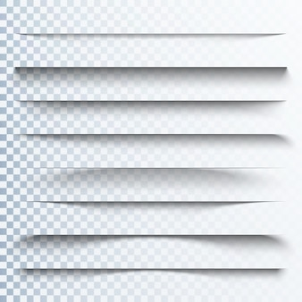 Efecto de sombras transparentes 3d