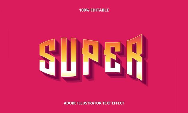 Efecto de super flag text editable