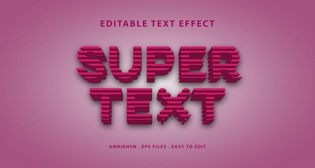 Efecto de super texto 3d