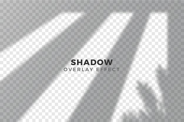 Efecto de superposición del concepto de sombras transparentes