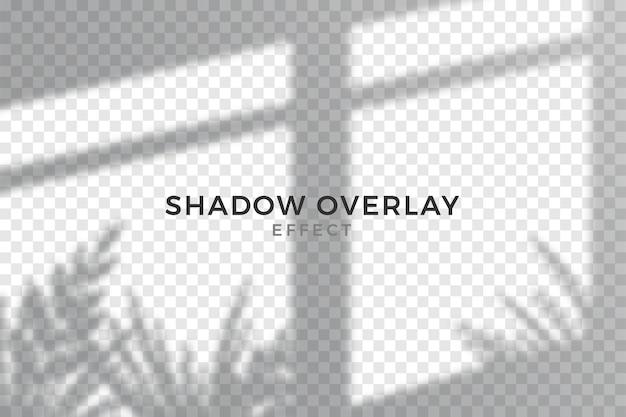 Efecto de superposición gris de sombras transparentes