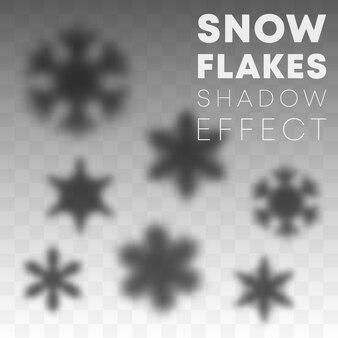 Efecto de superposición de sombra de copos de nieve