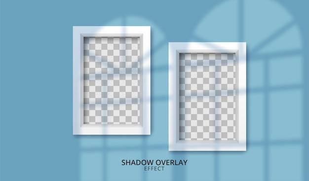 Efecto de superposición de sombra transparente