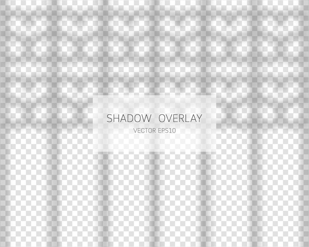 Efecto de superposición de sombra de ventana