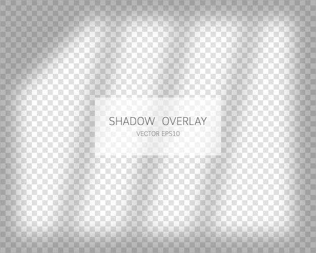 Efecto de superposición de sombras sombras naturales de la ventana aislada