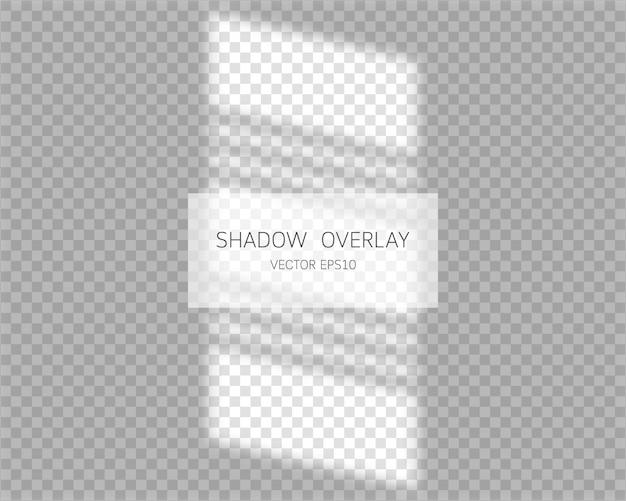 Efecto de superposición de sombras. sombras naturales de la ventana aislada.