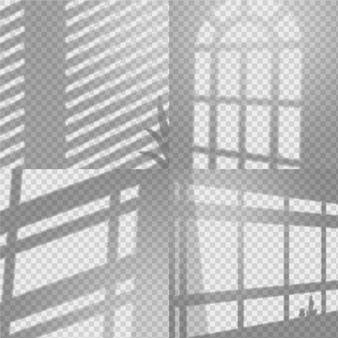 Efecto de superposición de sombras transparentes