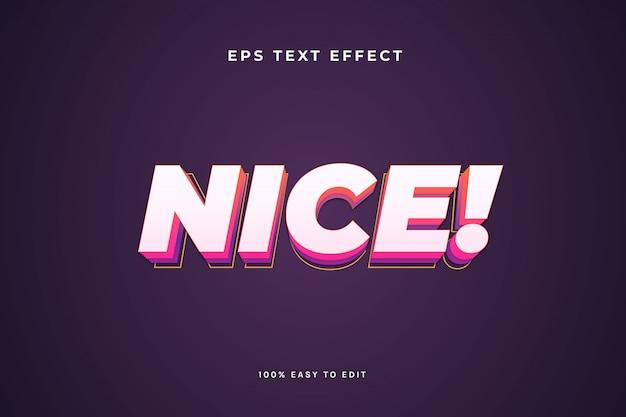 Efecto de texto 3d agradable simple