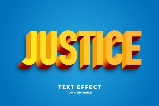 Efecto de texto 3d amarillo y rojo