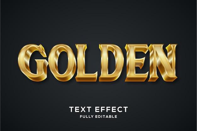 Efecto de texto 3d dorado de lujo