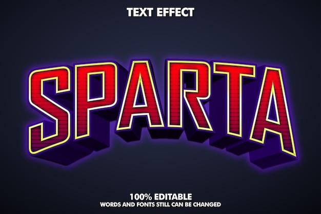 Efecto de texto 3d e-sport