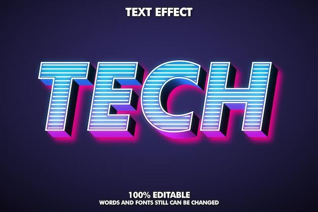 Efecto de texto 3d editable para un diseño moderno