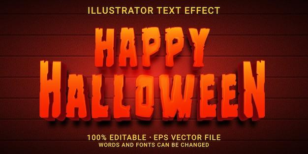 Efecto de texto 3d happy halloween