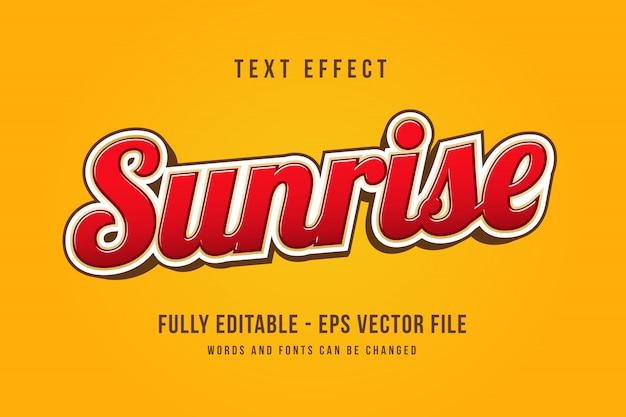 Efecto de texto 3d moderno efecto de fuente editable