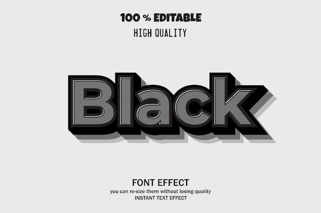 Efecto de texto 3d moderno, efecto de fuente editable
