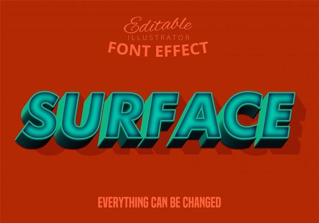 Efecto de texto 3d moderno, fuente editable