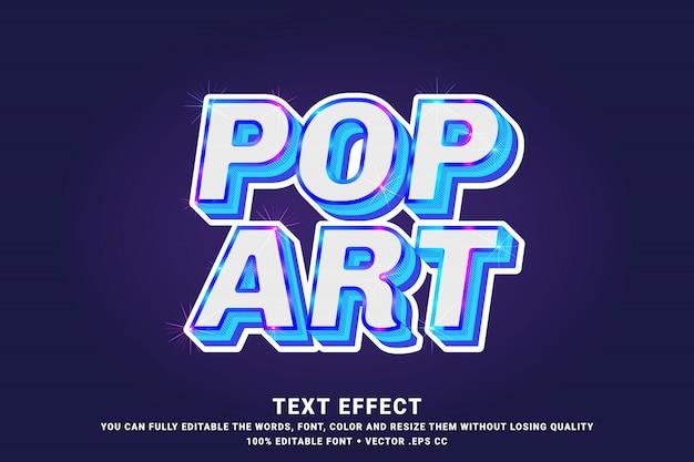 Efecto de texto 3d moderno pop art