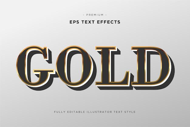 Efecto de texto 3d oro