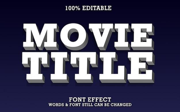 Efecto de texto 3d real para itle de película