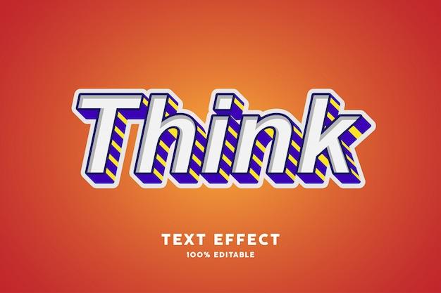 Efecto de texto en 3d con trazo púrpura y líneas, texto editable